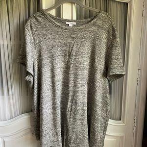 Daily Ritual gray tunic length T-shirt